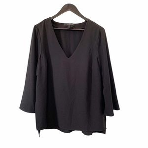Willow & Thread Black Bell Sleeve Tunic Blouse